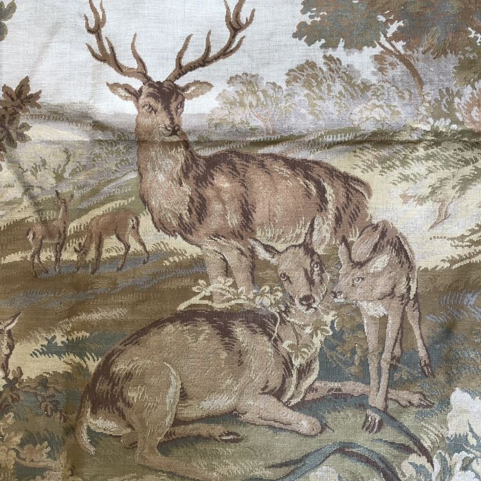 "JP Paris rare large 340 x 120 cm (!) Gobelin wall tapestry ""Deer in the Forest"""
