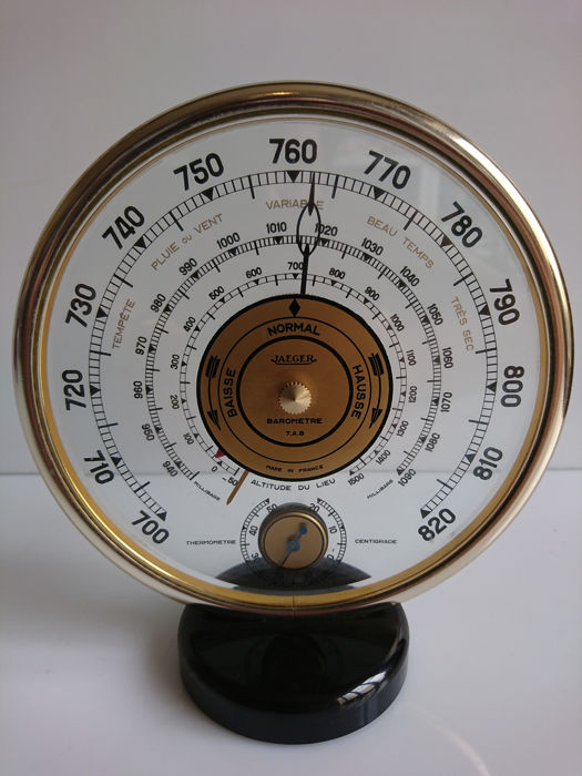 Jaeger - Thermometer, aneroid barometer - model 7 A.B - France - circa 1960