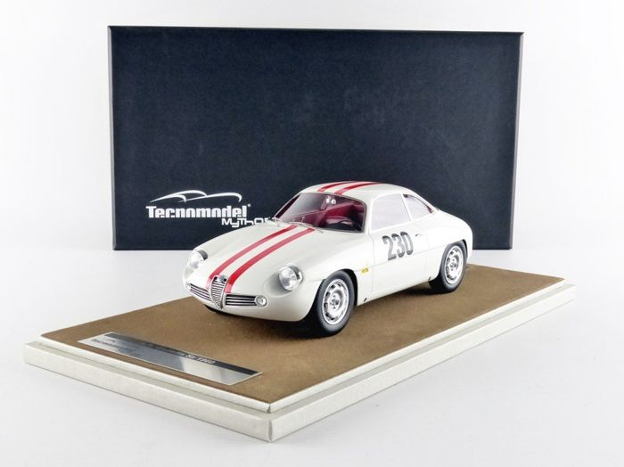 Tecnomodel Mythos - 1:18 - Alfa Romeo Giulietta Sz Friburgo Shauinsland Car #230 1960 - 1962 - Limited Edition of 60 pcs. (individually numbered)