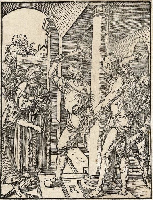Albrecht Durer, 1509 - The flagelation of Christ from the small passion