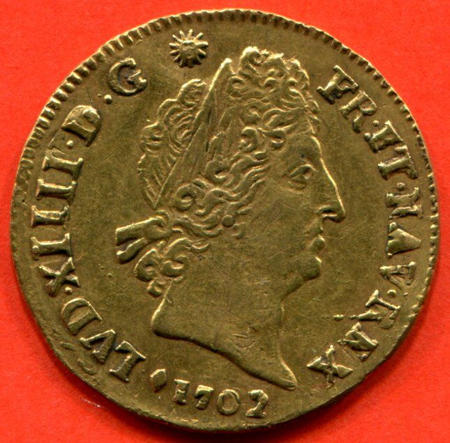France - Louis XIV - Louis d'or with 8L and symbols 1702 & (Aix) - gold