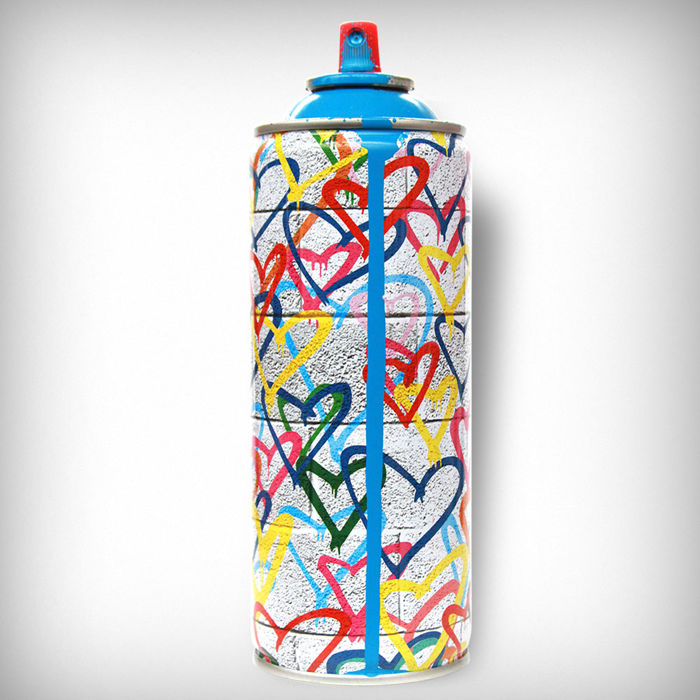 Mr Brainwash  - Hearts Spray Cyan
