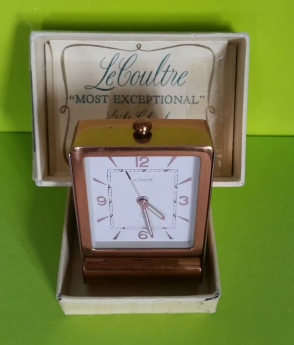 LeCoultre - Travel/Alarm Clock/Bedside - No. 219 - 7 Rubies - Original Box Included - 1970-1979