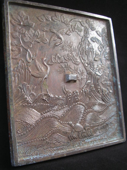 Very large bronze mirror - China - Late–mid 20th century