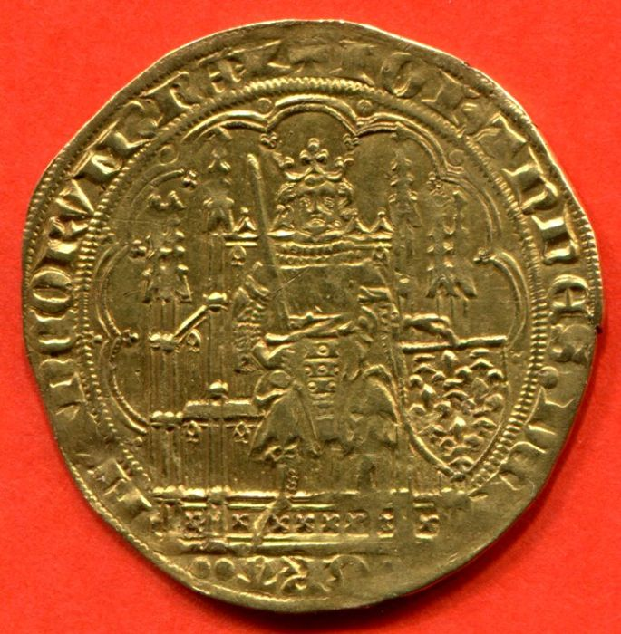 France - Jean II the Good (1350-1364) - Écu d'or with chair, nd (1351) - gold