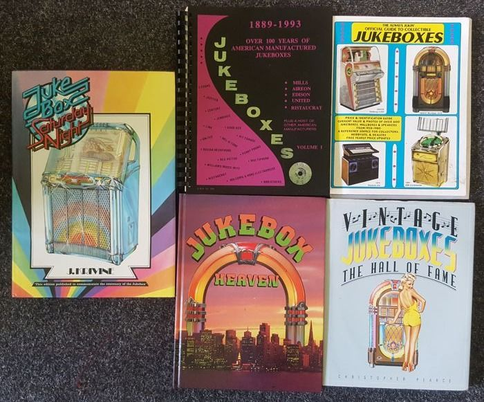 Lot with 5 books about Jukeboxes - 1988/1996