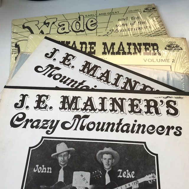Wade Mainer / J.E. Mainer Mountainers - lot of 5 vintage bluegrass LPs