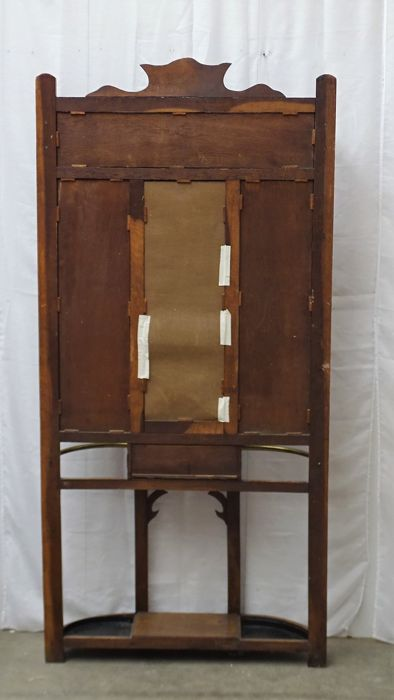 High piece of hall furniture with coat rack, mirror and ...