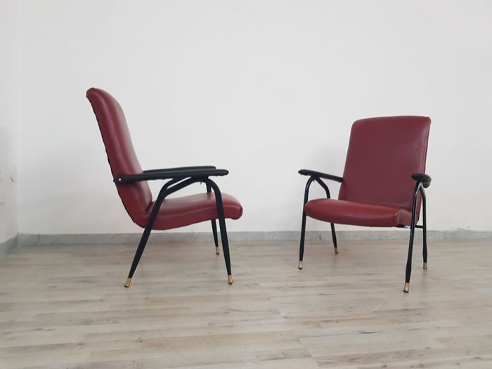 Unknown designer – Pair of armchairs, 1950s/60s