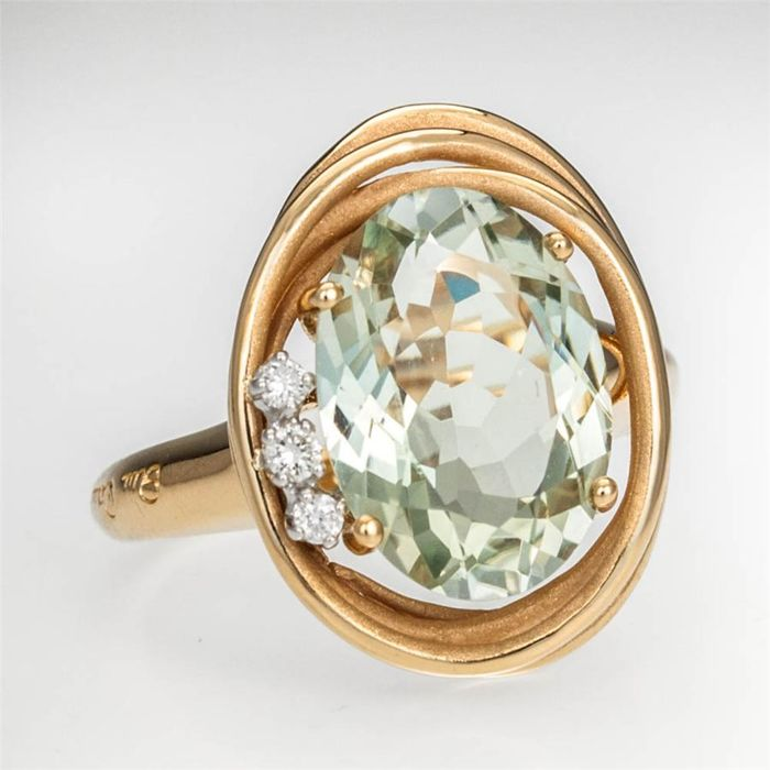 Annamaria Cammilli - Rose gold cashmere and diamonds ring