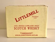 6 bottles - Original box with 6x Littlemill 8 years old - OB