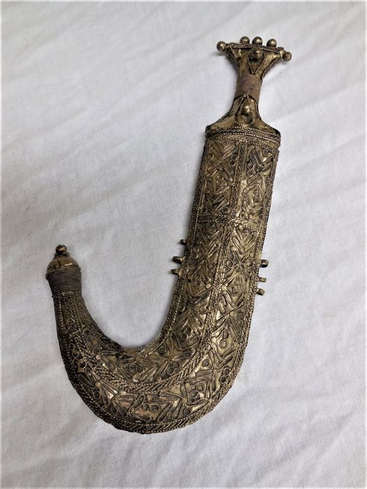 Antique curved dagger/Jambija - Yemen - early 20th century