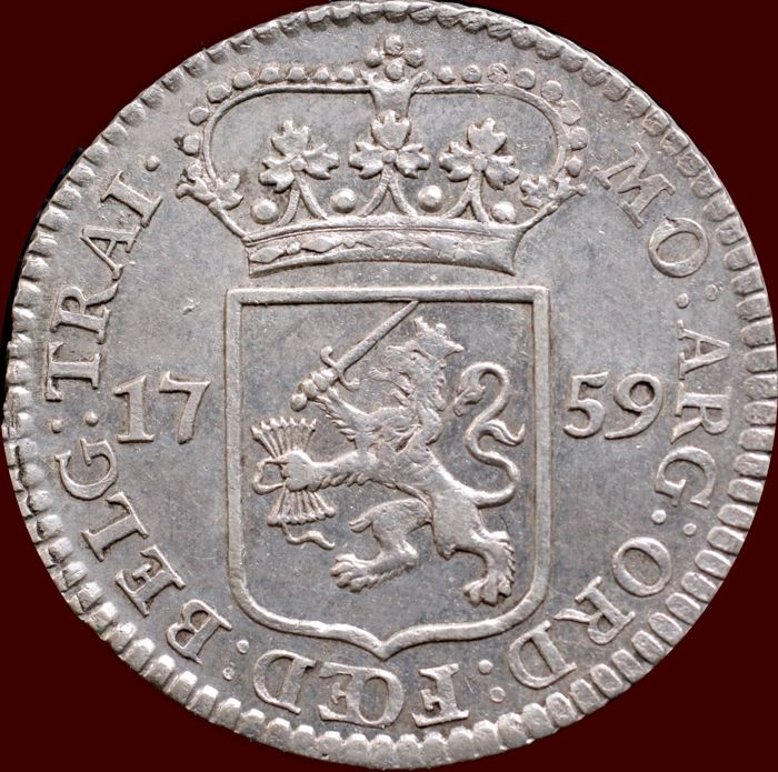 The Netherlands, Utrecht - 5 Stuivers or Mintmaster Penny 1759 - silver