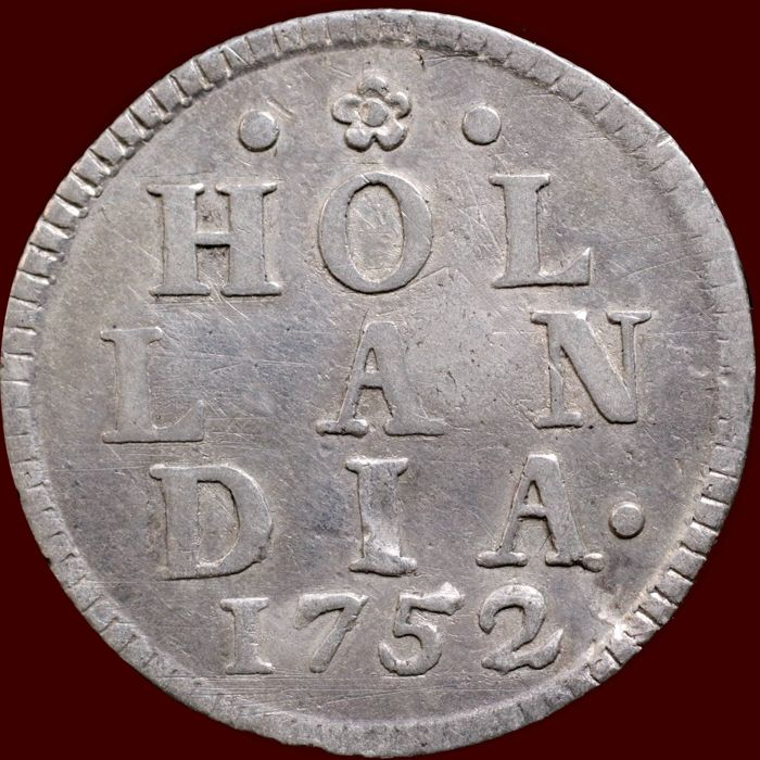 "The Netherlands, Holland - Duit 1752 ""Silver strike"" - silver"