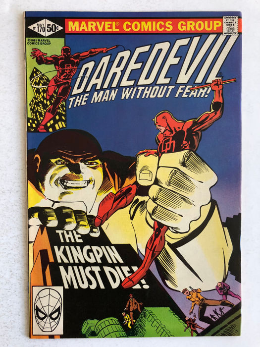 Marvel Comics - Daredevil #170 - Kingpin Appearance  - High Grade!! - 1x sc - (1981)