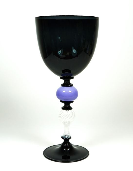 De My Giuliano (Murano) - collectible black and filigree chalice