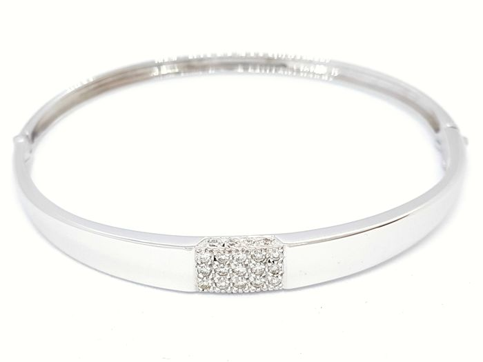 18 quilates Oro blanco - Brazalete - 0.23 ct Diamante