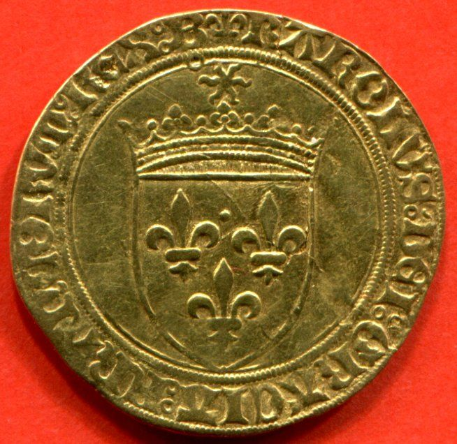 France - Charles VIII (1483-1498) - Écu d'or with sun, nd (1494) Bourges - gold