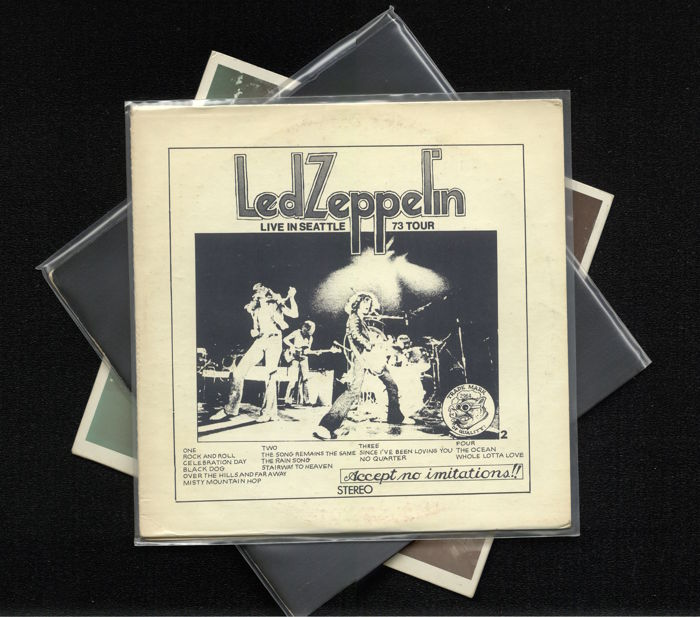 "Lot of three rare Led Zeppelin album including ""Live in Seattle 1973 Tour"" (2LP), The Song Remains the Same (2LP) and ""In through the out-take"""