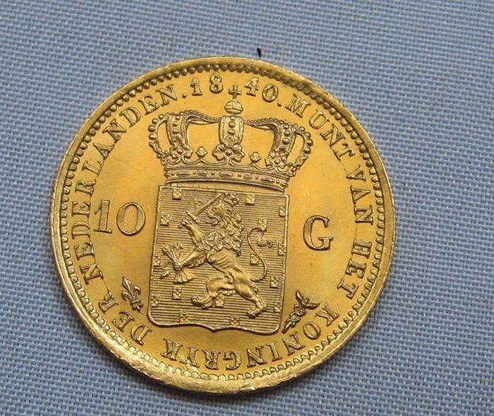 The Netherlands - 10 Guilder coin 1840 Willem I - gold