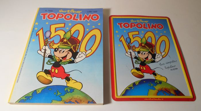 Disney - Topolino no. 1500 + metal plate 1500 - sc (1984)