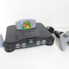 Nintendo 64 with controller, Super Mario 64 & ISS 64