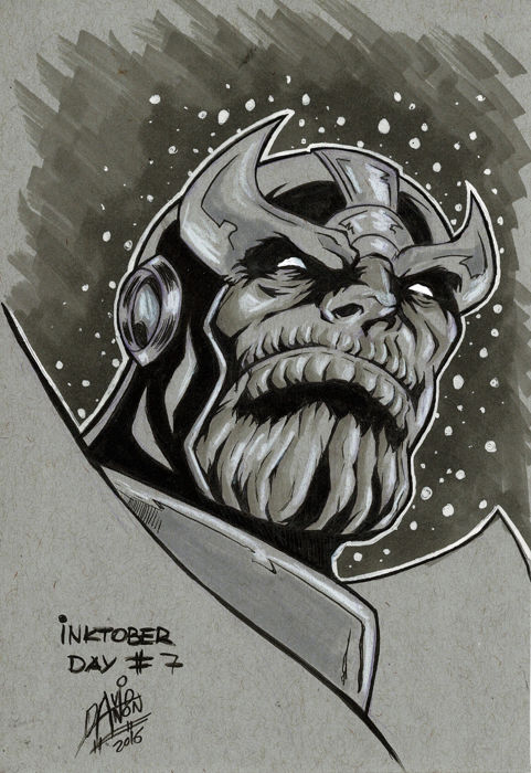 Thanos - 1 Original Drawing - Erstausgabe