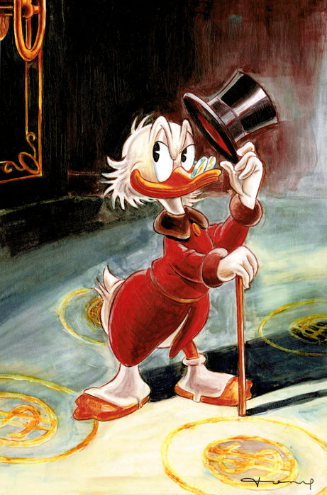 Uncle Scrooge inspired by Carl Barks - 1 High Definition Metal Print