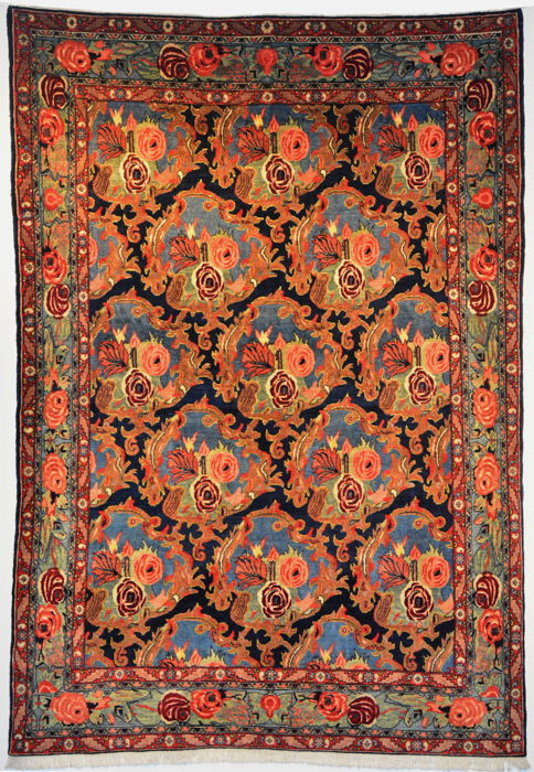 Carpet, Senneh - Carpet - 216 cm - 151 cm - Wool on Cotton - Early 20th century