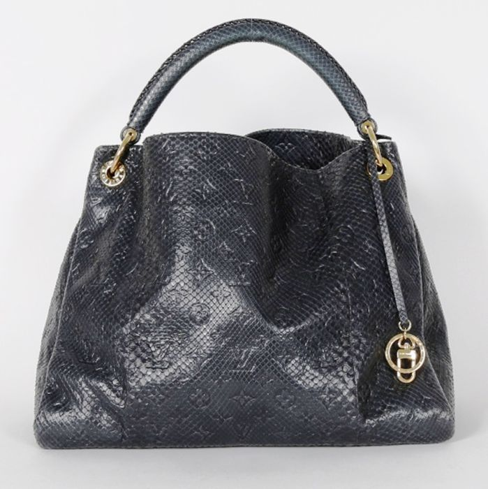 5da1946e01ab Louis Vuitton - Monogram Empreinte Leather Artsy navy blue tote bag ...