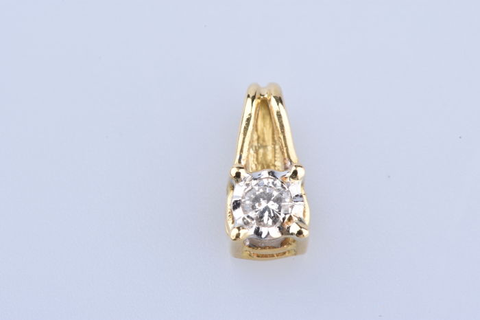 18 kt. Yellow gold - Pendant Diamond