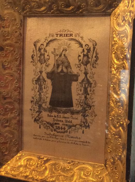 Relic Plenary indulgence granted by Pope Leo X for the visit of the Cathedral of Trêves Numbered 2-25 Late 19th century