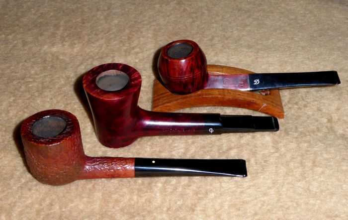 Dunhill Red Bark, Davidoff and Charatan Belvedere, 3 excellent pipes!!
