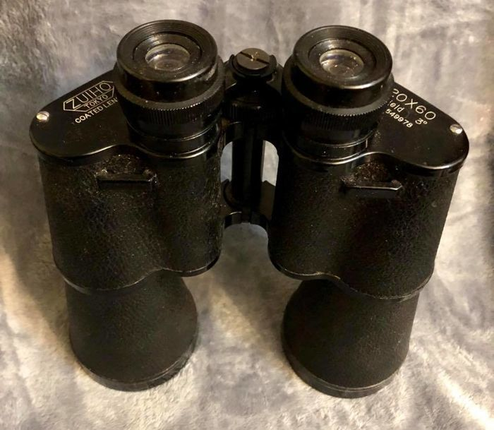 Exclusive vintage binoculars ZUIHO , Tokyo , Japan , 20th Century , - 20 X 60 - Field 3º , Nº 549978 , with original leather strong case
