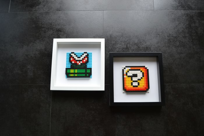 Super Mario Bros Piranaha Plant Question Bloc 2x Framed Catawiki