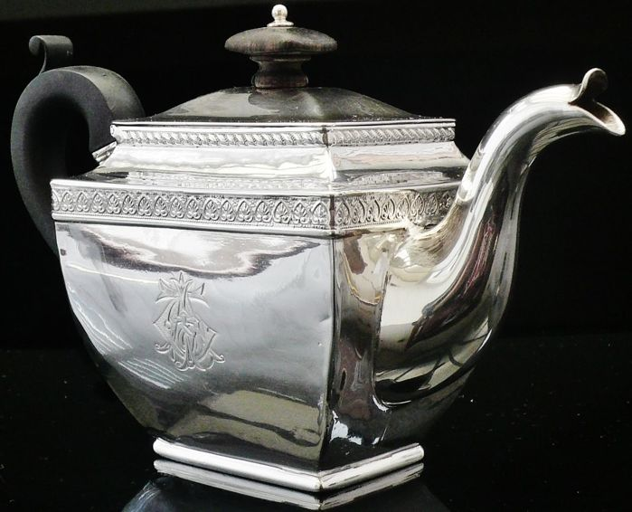 Pavel Sazikov Russian Silver Teapot, Moscow 1834