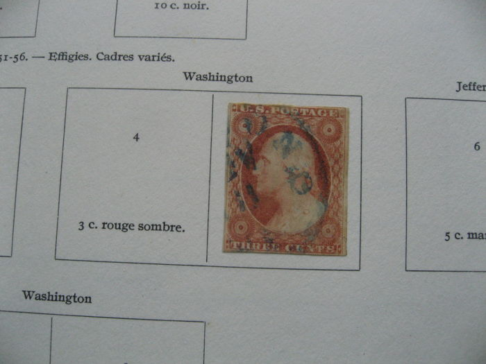 United States of America 1851/1958 - Important of stamps collection