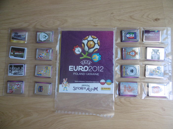 Panini - Euro 2012 - Empty album + Complete set of 539 stickers + 6 exclusive coca-cola stickers and all D1/D20 stickers(German Team).