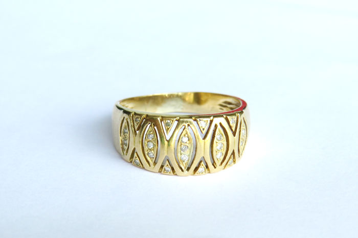 19,2 kt. Yellow gold - Ring