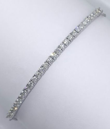 Bracelet set with 30 brilliant cut diamonds, 1.00 ct in total - *** no reserve price ***