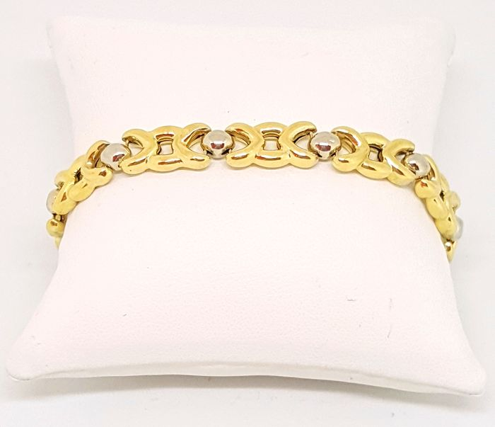 Chimento - Branded bracelet in 18 kt yellow and white gold, length 20.00 cm, weight 13.18 g
