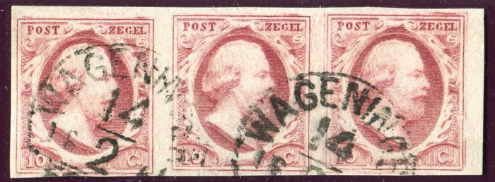 Netherlands 1852 - King William III First emission - NVPH 2