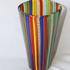 Murano (Not Attributed) - Vase with polychrome canes