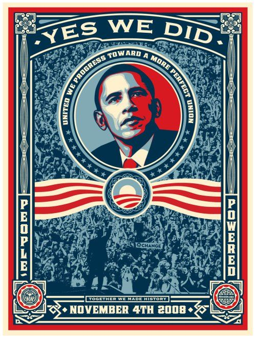 Shepard Fairey (OBEY) - Obama - Yes We Did + Bonus