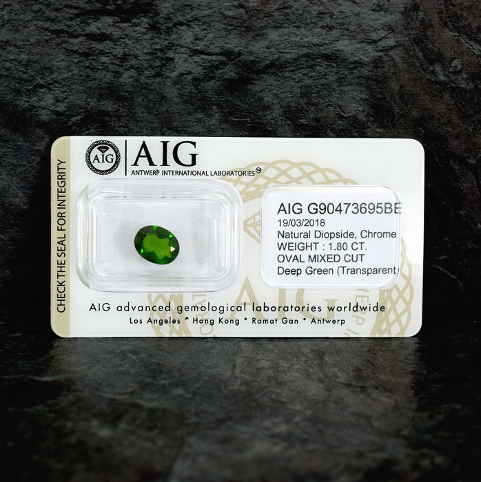 Diopside - 1.80 ct