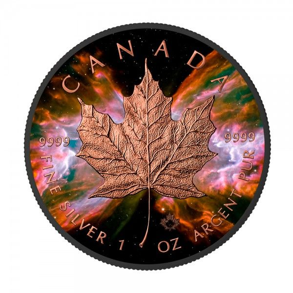 Canada - 5 Dollar 2016 Maple Leaf - Nebula Butterfly - Ruthenium Gilded - 1 Oz - Zilver