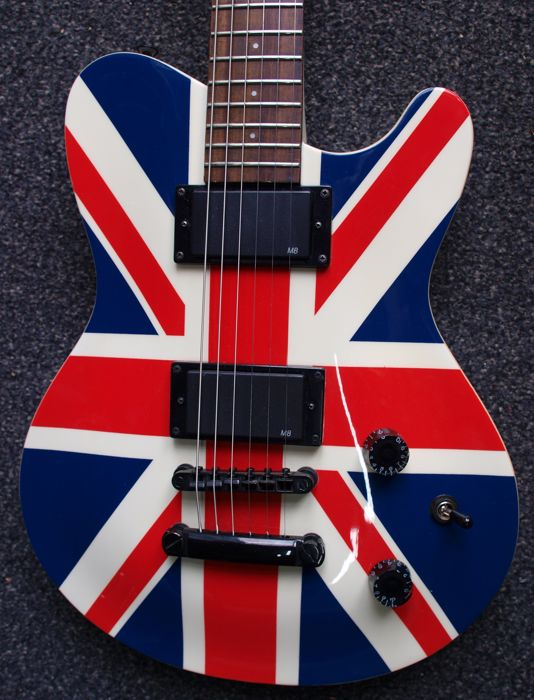Indie Shape Flag Union Jack, telecastermodel with humbuckers