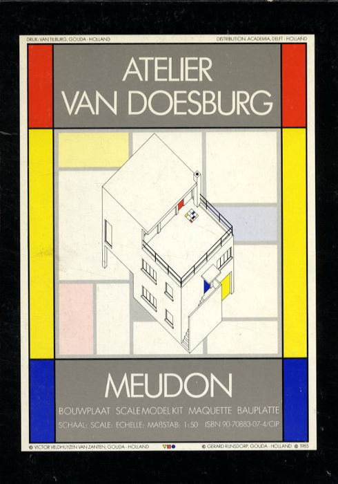 Theo van Doesburg - bouwplaat, scale model kit, maquette, Bauplatte (1)