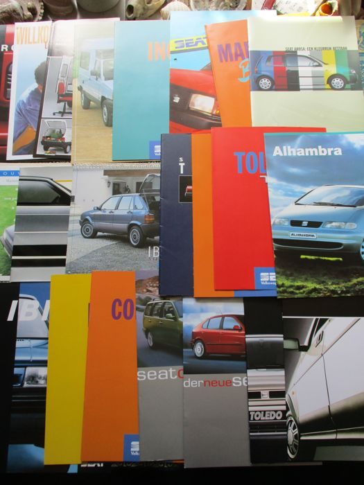Brochures/ Catalogues - SEAT - 1983-1997 (27 items)