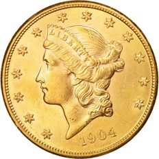 Estados Unidos - 20 Dollar 1904 - Liberty Head - Ouro